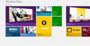 Windows 8 Store Accueil