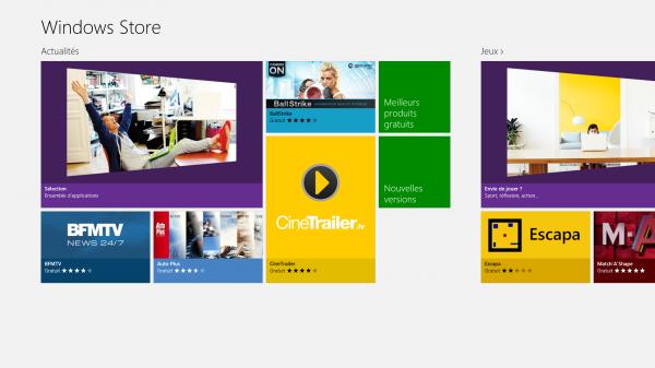 Changer le répertoire des applications Windows 8