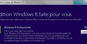 commander mise a jour Windows 8 pas cher 15€ ou 30€
