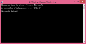 guide tutoriel utiliser le client Telnet Windows 8