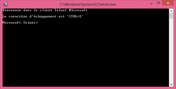 Installer le client Telnet sur Windows 8 et 8.1