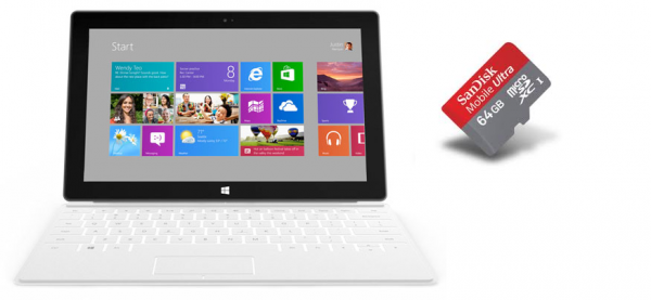 Surface : Installer les applications sur la carte SD