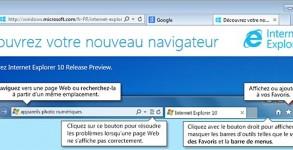 page accueil IE10 Internet Explorer 10