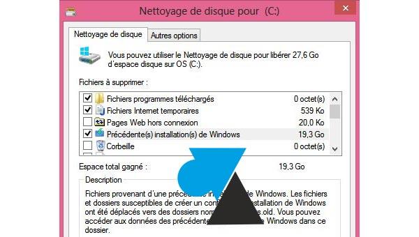 comment faire du menage fichiers temporaires inutiles Windows8