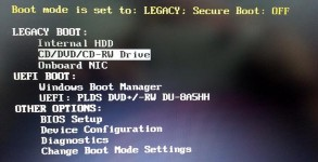Dell Bios UEFI downgrade installation
