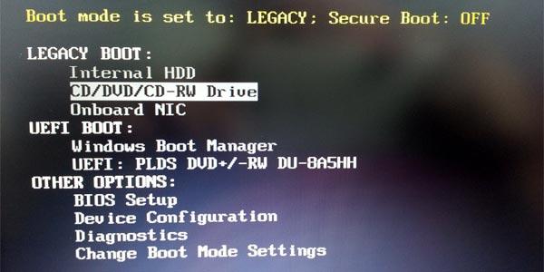 Dell Bios UEFI downgrade installation