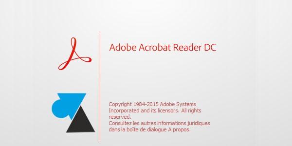 Installer Adobe Acrobat Reader pour lire les fichiers PDF