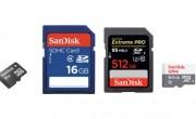 Différence de vitesse entre cartes SD et MicroSD