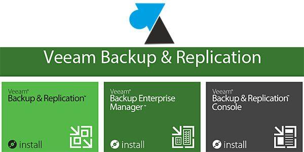 Présentation des logiciels Veeam Backup & Replication