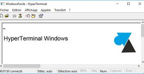 WF HyperTerminal Windows XP 7 10