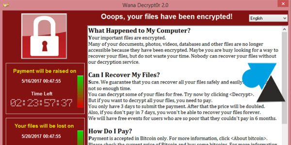 Virus WannaCry : comment s'en protéger