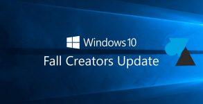 mise à jour Microsoft Windows 10 Fall Creators Update 1709