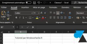 tutoriel Excel theme noir