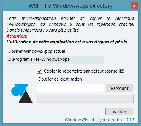 W8F Fix WindowsApps Directory 1