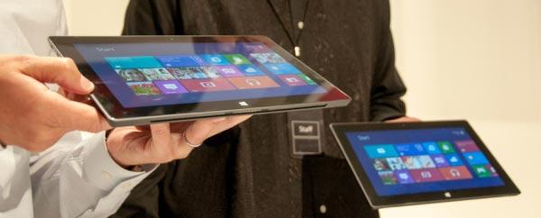 Windows 8 RT tablette tablet Microsoft Surface photo
