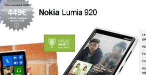 acheter Nokia Lumia 920 prix achat 450 euros pas cher