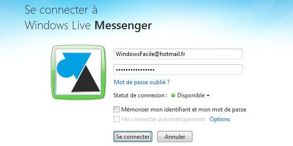 Revenir sur Windows Live Messenger au lieu de Skype