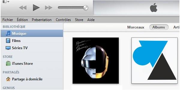 Remettre la barre de gauche dans iTunes