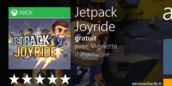 Le jeu Jetpack Joyride gratuit sur Windows Phone