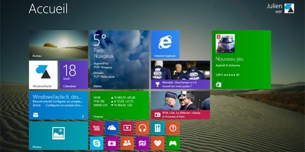 Windows 8.1 : changer l'image de l'écran d'accueil