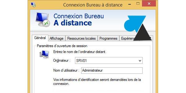 Script de connexion bureau distance mstsc windows - Bureau a distance windows server 2012 ...