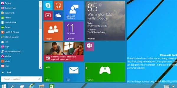 Windows 10 : aperçu des nouveautés