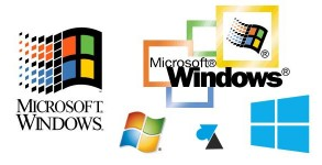 photo logo toutes differentes versions Microsoft Windows