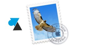WF Mail Mac OS icone timbre aigle