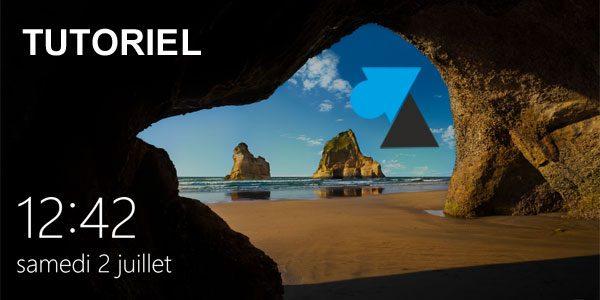 Windows 10 : mettre un diaporama en écran de verrouillage