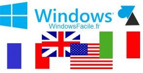 tutoriel WF changer langue systeme Windows 10