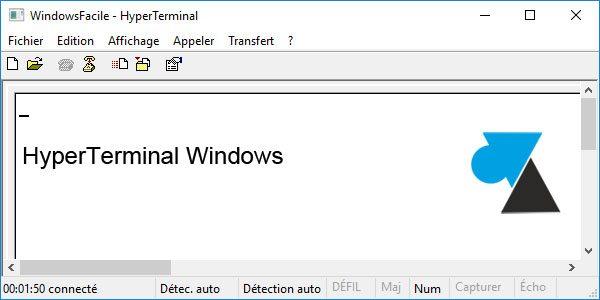 HyperTerminal sur Windows 10