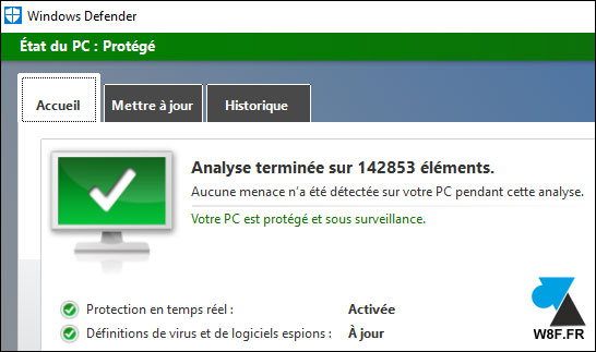 Windows 10 : ouvrir le logiciel antivirus Windows Defender