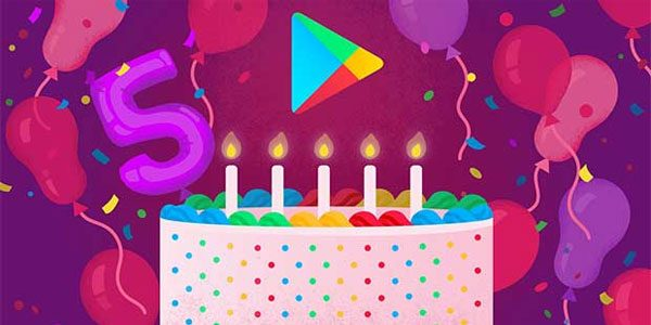 Android : Google Play fête ses 5 ans