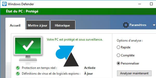 WF Windows Defender Windows 10 tutoriel