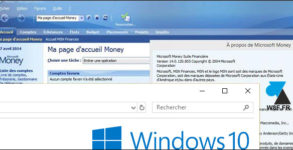 tutoriel Microsoft Money Windows 10 w10