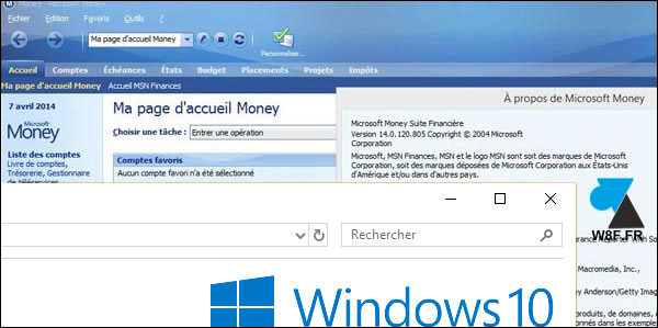 Télécharger et installer Microsoft Money sur Windows 10