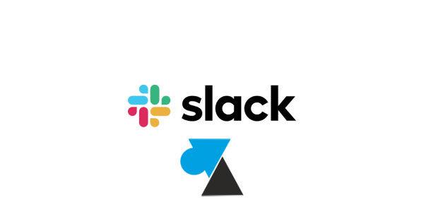 Supprimer un compte Slack