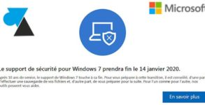 fin support Windows 7 tutoriel