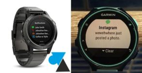 Garmin notification montre GPS