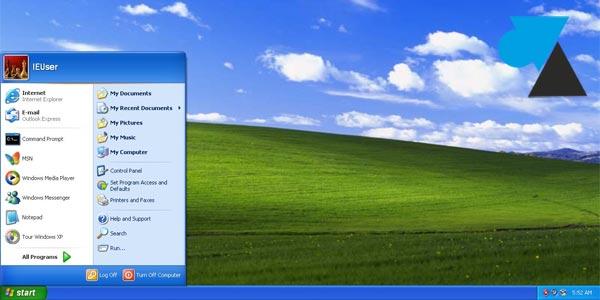 tutoriel Windows XP colline