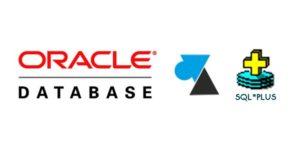 tutoriel sqlplus Oracle sql plus logo sgbd