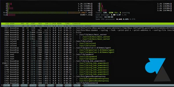 htop linux monitoring