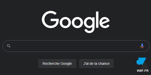 Supprimer le thème sombre de Google